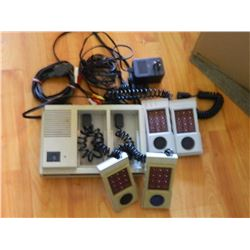 ORIGINAL MATTEL INTELUVISION II - WITH CORDS, 4 CONTROLLERS & 5 GAMES
