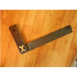 """VINTAGE SQUARE WITH INLAID BRASS - 14"""" X 7 ½"""""""