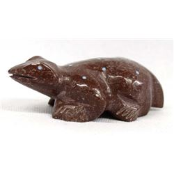 Zuni Carved Soapstone Frog Fetish by N. Yatsattie