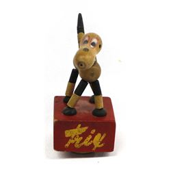 1940 Edwards Mfg. ''Trix'' Dog Push Puppet