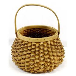 Beautiful Penobscot Porcupine Wooden Basket