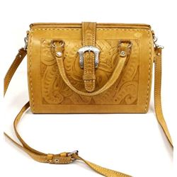 Force Ten Classic Hand Tooled Leather Purse