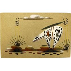 Native American Navajo Sand Painting by Bobby Kee