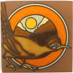 Southwestern Ceramic Roadrunner Tile by J. Hearn