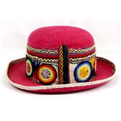 Bolivian Embroidered Felt Hat