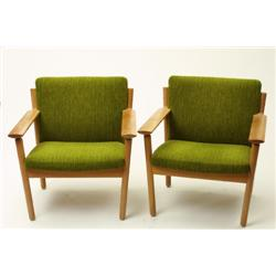 Pair of chairs, oak