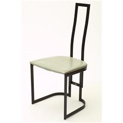 Chairs, 4 , steel/skin