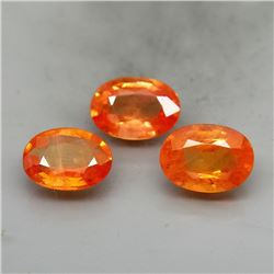 Natural Oval Orange Sapphire 7x5 MM