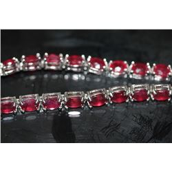 Natural Red Ruby 51 Carats Bracelet
