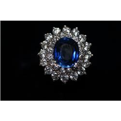 Stunning Tanzanite Quartz Ring