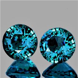 Natural Deep Blue Green Sapphire Pair 5.60 MM  Flawless