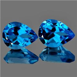 Swiss Blue Topaz Pair 9x7 MM {VVS}