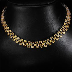 Natural Yellow Citrine 285.97 Cts Necklace