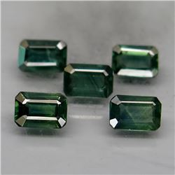 Natural Blue Green Sapphire Perfect Shape 3.70 Ct