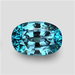 Natural AAA Electric Blue Zircon 3.77 Ct Flawless