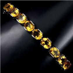 Natural Top Rich Yellow Citrine 95.33 Bracelet