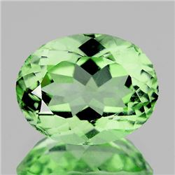Natural Green Oval Amethyst 15.22 Cts - FL