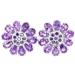 NATURAL AAA OVAL PURPLE AMETHYST Earrings