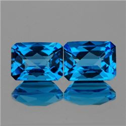 Natural Swiss Topaz Pair 8x6 Mm - VVS