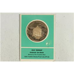 CALN TOWNSHIP CENTENNIAL COIN-MEDAL MINTED AND