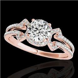 1.36 CTW H-SI/I Certified Diamond Solitaire Ring 10K Rose Gold - REF-169H3A - 35323