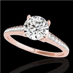 1.5 CTW H-SI/I Certified Diamond Solitaire Ring 10K Rose Gold - REF-214T2M - 34845