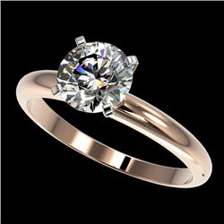 1.55 CTW Certified H-SI/I Quality Diamond Solitaire Engagement Ring 10K Rose Gold - REF-400H2A - 364