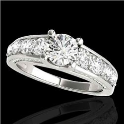3.05 CTW H-SI/I Certified Diamond Solitaire Ring 10K White Gold - REF-434Y5K - 35516