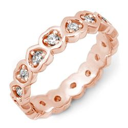 0.50 CTW Certified VS/SI Diamond Ring 10K Rose Gold - REF-37T3M - 11404