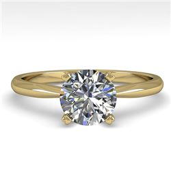 1.01 CTW VS/SI Diamond Engagement Designer Ring 18K Yellow Gold - REF-284T8M - 32401