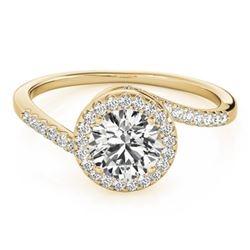 0.75 CTW Certified VS/SI Diamond Bypass Solitaire Ring 18K Yellow Gold - REF-114K5W - 27656