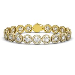 15.36 CTW Diamond Designer Bracelet 18K Yellow Gold - REF-2399W3F - 42673