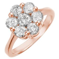 1.50 CTW Certified VS/SI Diamond Ring 14K Rose Gold - REF-166K8W - 10071
