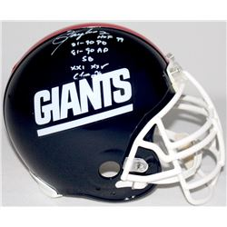 Lawrence Taylor Signed Giants Full-Size Authentic Pro-Line Helmet With (4) Career Stat Inscriptions