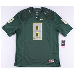"Marcus Mariota Signed LE Oregon Authentic On-Field Jersey Inscribed ""Heisman 14"" #8/50 (Steiner COA"