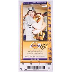 Kobe Bryant Signed LE 2010 Lakers Playoffs 14x31 Canvas Mega Ticket (Panini COA)