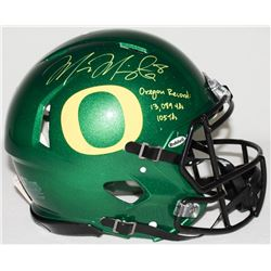 "Marcus Mariota Signed Oregon Full-Size Authentic Pro-Line Speed Helmet Inscribed ""Oregon Record: 13,"