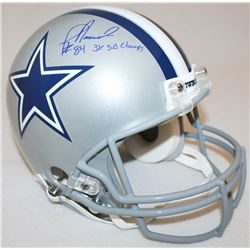 "Jay Novacek Signed Cowboys Full-Size Authentic Pro-Line Helmet Inscribed ""3x SB Champs"" Limited Edit"