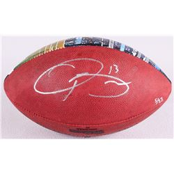 "Odell Beckham Jr. Signed LE Custom Hand-Painted ""The Duke"" NFL Official Game Ball Out of /13 (Steine"