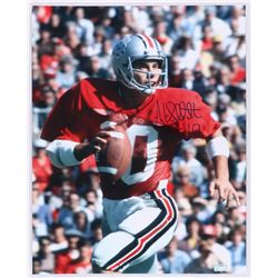 Art Schlichter Signed Ohio State 16x20 Photo (Radtke Hologram)