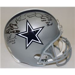 Troy Aikman, Emmitt Smith  Michael Irvin Signed Cowboys Full-Size Helmet With (3) Super Bowl Inscrip
