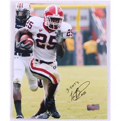 "Tra Battle Signed Georgia 8x10 Photo Inscribed ""3-INT'S"" (Radtke Hologram)"