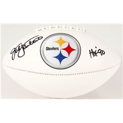 "Jack Lambert Signed Steelers Logo Football Inscribed ""HOF 90"" (Radtke COA)"