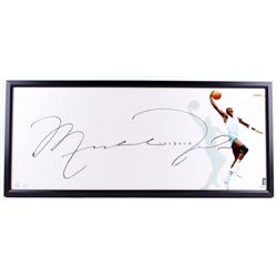 "Michael Jordan Signed North Carolina Tar Heels ""The Show"" 20x46 Custom Framed Display (UDA COA)"