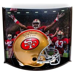 "Jerry Rice Signed LE 49ers Full-Size Authentic Pro-Line Helmet Inscribed ""3X SB Champ""  ""HOF 2010"" W"