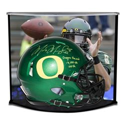 "Marcus Mariota Signed LE Oregon Full-Size Authentic Pro-Line Speed Helmet Inscribed ""Oregon Record:"