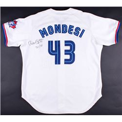 "Raul Mondesi Signed Game-Used Blue Jays Jersey Inscribed ""30/30"" (JSA ALOA)"