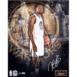 Kevin Durant Signed LE Warriors 16x20 Photo (Panini COA)