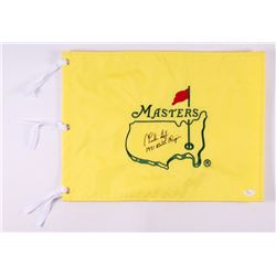 """Charles Coody Signed Masters Pin Flag Inscribed """"1971 Masters Champion"""" (JSA COA)"""