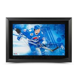 Joe Sakic Signed Nordiques 25x17 Custom Framed Acrylic Stick Blade Shadow Box Display LE 25 (UDA COA